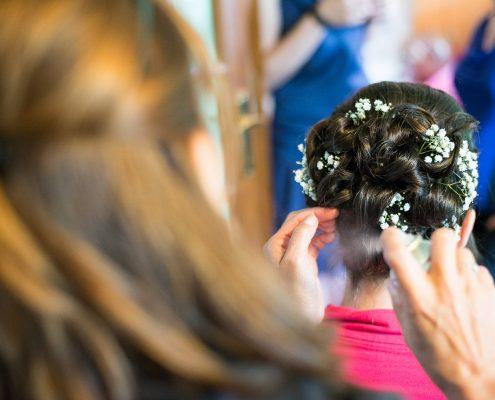 Maquillage et coiffures de mariage
